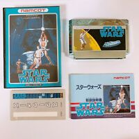 STAR WARS Namco Famicom Nintendo with box and manual Japan game FC NES