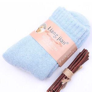 1Pair Men's Cashmere Wool Socks Womens Winter Thermal Thick Sports Socks