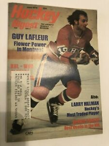 Lot of 17 Hockey Digest - 1973, 1975, 1976, 1979  Guy LaFleur, Henri Richard