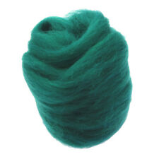 10g Felting Wool Roving Yarn Spinning Fiber For Needle Felting Dark Green