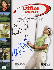 ANNIKA SORENSTAM Winner SE RI PAK Dual Signed 2003 Office Depot Golf Program GA