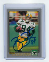 2001 PACKERS Bill Schroeder signed card Topps #24 AUTO Autographed Green Bay