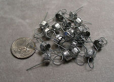 Ornament Caps for Holiday Ornaments Old or New 8.5 mm - 20 caps Silver