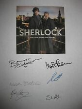 Sherlock TV Signed Script X6 Benedict Cumberbatch Martin Freeman Gatiss reprint