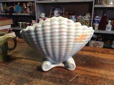 BRT Rare Mid Cent Baby Blue Pearl Vintage Raynham Australian Pottery Shell Vase
