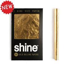 Shine 24 Karat King Size Gold Paper Drehpapier Zigarettenpapier Zigarettenblätc