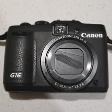 Excellent Condition Canon PowerShot G16 12.1MP Digital Camera - Black