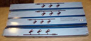 Hampton Bay 3-Light Track Lighting Kit (463 285) 4pcs Linear Component Black
