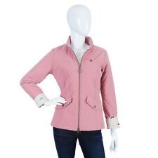 BARBOUR Lead Quilt Pink Equestrian Jacket UK 10 US 6 EUR 36  Quilted Women's
