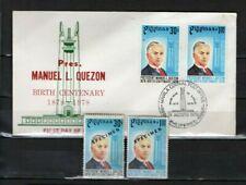 PHILIPPINES 1978 Quezon Birth Centenary SPECIMEN Set + FDC Scott:1355-1356