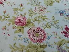 Sanderson Curtain Fabric 'Elouise' Eggshell/Pink 3.7 METRES (370cm) 100% Linen