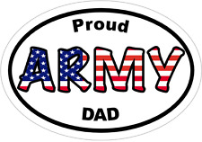 Army Decal - PROUD ARMY DAD Vinyl Sticker - Army Dad Bumper Sticker
