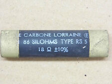 Résistance Carbone non inductive type RS5 18 ohms 18R Silohms d:17.5mm lg:70mm