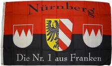 Fahne Nürnberg Nr. 1  90 x150 cm Hissflagge Flagge Franken FCN Flagge mit Ösen