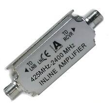 z- SAT TV Inline Leitungs-Verstärker 20dB digital HDTV 3D 4k Signalverstärker