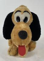 "Vintage Disney Pluto Dog 11"" Sitting Stuffed Animal Plush Made in Korea"