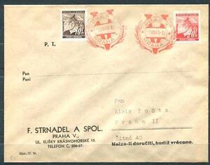 B & M 21 & 22 auf Brief mit V (Victoria) - Stempel #m729