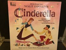 "Cinderella LP Walt Disney's "" Factory Sealed "" Disneyland 1207"