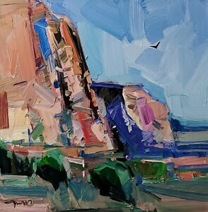 JOSE TRUJILLO Oil Painting IMPRESSIONISM CONTEMPORARY DESERT LANDSCAPE NR