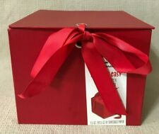 "Hallmark 7"" Gift Box with Shread(Solid Red)for Christmas,Birthdays,Any NEW(D14)"