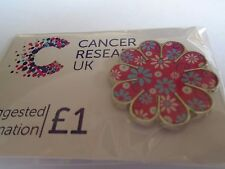 Pink Flower Pin Badge For Cancer Research U.K BNIP