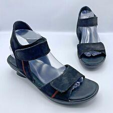 Wolky 5101853 Women Black Strappy Sandal Shoe Size 7.5 EUR 41 Pre Owned
