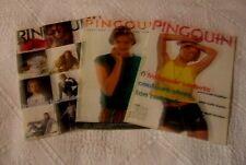 LOT de 3 catalogues tricot PINGOUIN -  n° 130, 134 et 163/Années 1990
