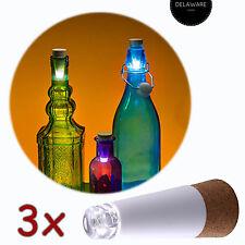 3X FLASCHENLICHT BOTTLE LIGHT USB LED WIEDERAUFLADBAR KORK FLASCHENBELEUCHTUNG
