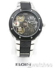 New Elgin Men Auto-Quartz Sub-Second Hand Two Tone Watch 42mm FG7083