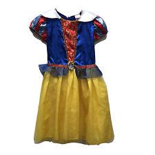 Disney Princess Snow White Sparkle Gold Girls dress Size MED 8 / 10 Play Costume