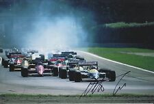 Nelson Piquet Hand Signed Canon Williams F1 12x8 Photo.