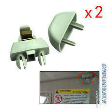 OEM Pair Gray Sun Visor Clip For VW Passat Polo SKODA Rapid Seat 6R0857561 Y20