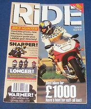 RIDE MAGAZINE JANUARY 1996 - BEST BIKES FOR A £1000