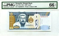 MONGOLIA 1000 TUGRIK 2013 MONGOL BANK GEM UNC PICK 67 d LUCKY MONEY VALUE $80