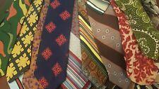 Lot 100 Neckties Craft Quilt Wholesale Bulk Vintage Polyester Acetate Rayon Tie