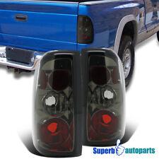 For 1997-2004 Dodge Dakota Replacement Tail Lights Brake Lamps Smoke