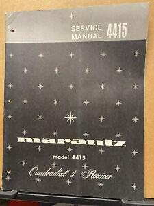 Original Service Manual for the Marantz Model 4415 Receiver ~ Not a Copy!