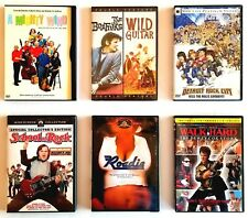 Music comedy movies 6 Dvds: School of Rock, Walk Hard, A Mighty Wind, Roadie.