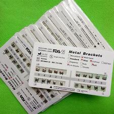 20 X Dental Orthodontic Brackets Metal Mini MBT 018 Slot 345 hooks Mesh Base FDA