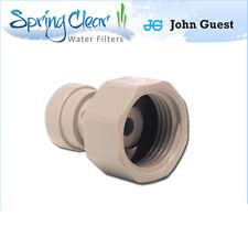 "John Guest 1/2 BSP - 3/8"" Push Fit Tap Connector, Ro Unit, Fridge Filters,Water"