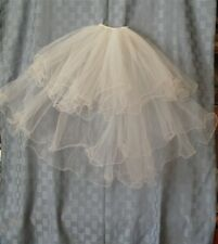 BRIDAL OR COMMUNION CURLY EDGE 4 TIER VEIL...BRAND NEW.....WHITE