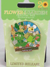 Disney World Epcot 20 Years Flower & Garden Festival 2013 Mickey Mouse LR Pin