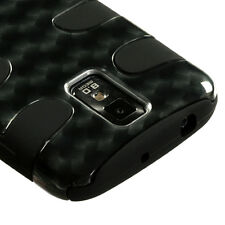 T-MOBILE SAMSUNG GALAXY S 2 II T989 DUAL LAYER 2 TONE HYBRID CASE METAL PLAID