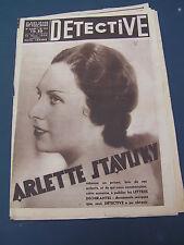 Détective 1935 333 le clocher muet MAINCY seine et marne chagrin d'amour BREST
