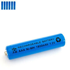 6 pcs AAA 3A 1800mAh 1.2V Ni-MH rechargeable battery Solar Light MP3 RC Blue