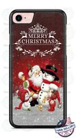 Merry Christmas Santa Claus snowman Phone Case Cover for iPhone 11 Pro Samsung