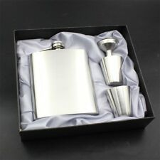 7oz Stainless Steel Pocket Hip Flask Funnel Cups Set Drink Bottle Gift New AU