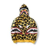 A Bathing Ape Bape Camo Shark Head Coat Full Zip Jacket Unisex Hoodie Sweatshir