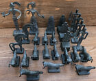 Bronze Chess Vintage Figures (Lot Of 26) 60's Frederick Weinberg Style Brutalist