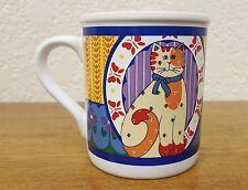 """Vintage 1994 Current """" Calico Cat """" Decorative Novelty Mug Cup - Japan"""